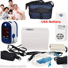 Portable Oxygen Concentrator Generator/Battery/Home/Travel Pulse Oximeter Light