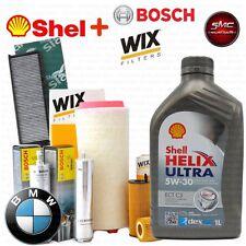 Kit tagliando olio SHELL HELIX 5W30 5LT+4 FILTRI BMW 318D 320D E46 85 100kW