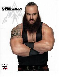 BRAUN STROWMAN 8x10 OFFICIAL PROMO PHOTO UNSIGNED AUTO WWE WWF RARE NEW
