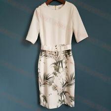 New Ted Baker TYYRAA Highland Bodycon Dress Cream