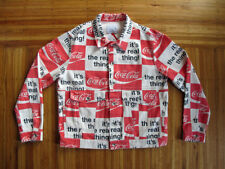 Men's Classic Coca-Cola BDG White Denim Trucker Jacket sz XL _ coke rare kith