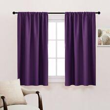Bedroom Drapes Blackout Curtains Panels - PONY DANCE All Season Solid Rod Pocket