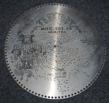 """Antique Regina Music Box Player Disc 15 1/2"""" In The Good Old Summer Time #1981"""
