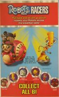 """Kellogg's Cereal 2005 Robots the Movie 2.5"""" Pullback Racers"""