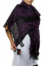 "( GUESS CLOSING ) Women's Fashion Scarf, Purple 100% rayan diameter 65""X20"""