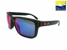 OAKLEY HOLBROOK 9102 36 Black red Iridium Colori  Ducati Sunglass Occhiali Sole