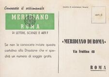 """A1070) GIORNALE, """"MERIDIANO DI ROMA"""" SETTIMANALE DI LETTERE, SCIENZE E ARTI."""