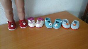 4 Paar Puppen Schuhe, Sohlenlänge ca. 6 cm
