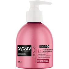 3 X SCHWARZKOPF - SYOSS REVIVE - 3in1 COLOR PROTECT FLUID CONDITIONER - RESTORE