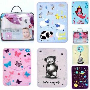 Baby Newborn Blanket Soft Fleece Pram Crib Boys Girls Unisex Baby shower Gift