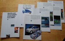 BMW E1 Electric Car original 1991 UK Market prestige brochure portfolio prospekt