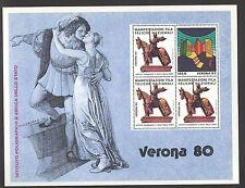 FOGLIETTO IPZS ITALIA 1980 MANIFESTAZIONI NAZIONALI VERONA 80 GIULIETTA E ROMEO