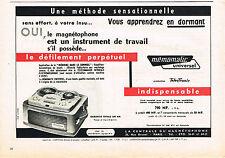 PUBLICITE  1960   MEMOMATIC UNIVERSEL   magnétophone