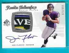 2008 SP Authentic Rookie Auto Patch Joe Flacco Ravens Logo Sweet!!