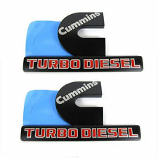 Cummins Turbo Diesel Matte Black Decals Nameplates Emblems Mopar For Dodge Ram