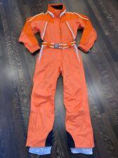 Orange OBERMEYER Womens 6 One Piece SKI SUIT Snow Bib vtg Snowsuit WATERPROOF