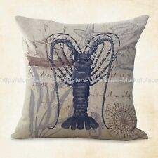 US SELLER, marine life sea animal lobster cushion cover cheap couch pillows