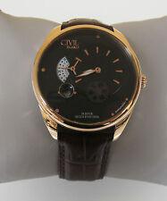 Egard Men's CVL-VNT-ROS 'Vantage' Automatic Brown Leather Watch
