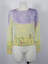 Bazar de Christian Lacroix yellow and purple lightweight blouse top size L