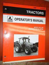 1998 AGCO ALLIS CAB TRACTOR MODELS 8745-8765 ORIGINAL FACTORY OPERATORS MANUAL