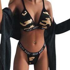 34caf7dee2 Women Sexy Bralette Bra Set Letter Printed Sheer Bra G-String Brief Lingerie  Set