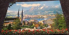 Switzerland Luzern Lucerne Stadt Hofkirche und Pilatus - posted 1995