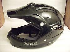 NOS Mid School Vigor Sports Rebel Full Face BMX Helmet...Snell N94...Bike..Black