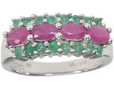 Emerald Ruby Sterling Silver Fine Rings