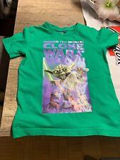 Grünes T-Shirt Gr.110 Jungs Star War's The Clone Wars