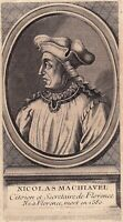 Portrait XVIIIe Nicolas Machiavel Niccolò di Bernardo dei Machiavelli Fizence