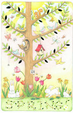 Mary Engelbreit-Spring Happy Easter Tree Owl Bunny-Greeting Card/Envelope-New!