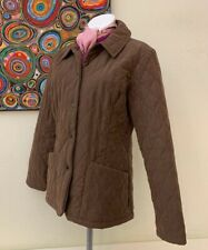 Barbour Women's Brown Shaped M'Fibre Quilted Short Style Jacket - UK 12 EU 38