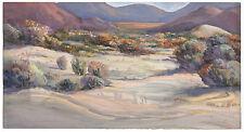 Lucille Fox Delano signed watercolor CALIFORNIA ART