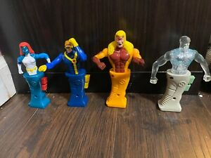 "Lot of 4 Marvel XMen Toys 5.5"" Taco Bell 2001 Cyclops Mystique Sabretooth Iceman"