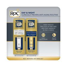 Roc Retinol Correxion Deep Wrinkle Night Cream and Daily Moisturizer Spf 30 1oz