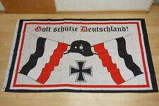 Fahne Flagge Deutsches Reich Gott schütze Deutschland - 90 x 150 cm