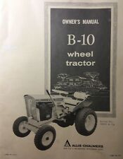 Allis Chalmers B-10 Lawn Riding Garden Tractor Owners Manual 32pg Simplicity H.P