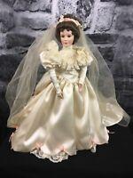 """Ashton-Drake Galleries """"Elizabeth's Wedding Dress"""" Porcelain Doll"""