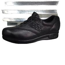 Softspots Women's Supremes Marathon Walking Shoes Black Leather Comfort Size 8WW