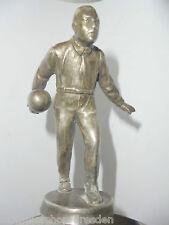25292 alte Kegler Figur Spritzguß plated signiert W 11cm ohne Sockel bowling