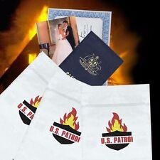 33% Off 3x Medium Fire Resistant Document Passport Photo Bag Pouch 23cm x16 Safe