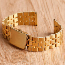 16mm/18mm/20mm Silver/Golden Stainless Steel Strap Solid Link Watch Band Strap