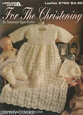For The Christening Maureen Egan Emlet Baby Gown Booties Knit & Crochet Patterns
