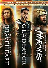 Braveheart Gladiator Hercules Triple feature 3 Dvd New Mel Gibson Dwayne Johnson