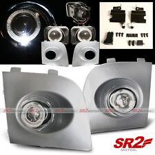 Silver Fog Lamp White Halo LED Bumper Lights fits 06 07 Subaru Impreza WRX STI