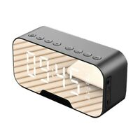 1X(Tragbarer LED-Spiegel Digitale Bluetooth-Lautsprecher Wecker MP3 FM-RadiZ6R9)