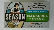 4 cans of Season Brand Skinless & Boneless Mackerel Fillets in Olive Oil