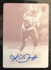 2016 Panini Contenders 1/1 Auto Kevin Dodd Rookie RC Print Plate Titans