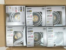 SATCO Ditto 11.5W Replacement S9635 LED Reflector Bulbs Box of 6 Soft White NEW!