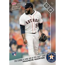 2017 TOPPS NOW #254 FRANCIS MARTES (RC) 5 STRONG IP EARNS WIN IN 1ST MLB START